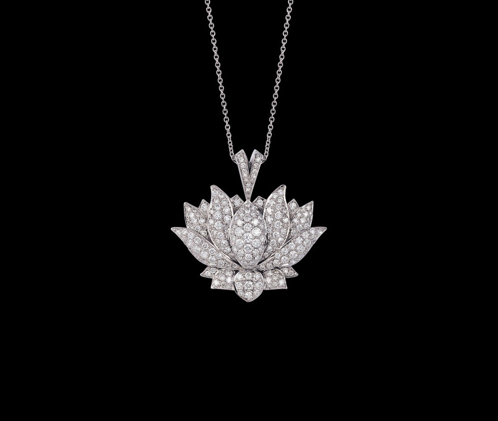 necklace lotus statement on gold jewelry item chains f new necklaces clavicle plated pendant women in accessories fomalhaut beginnings from