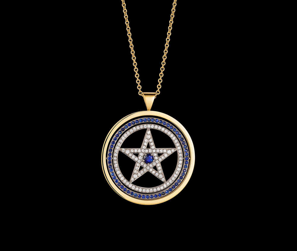 Sakti by lisa butcher collection the pentagram is believed to be a potent guard against evil and this pendants enclosing circle brings the wearer universal wisdom and protection biocorpaavc Gallery